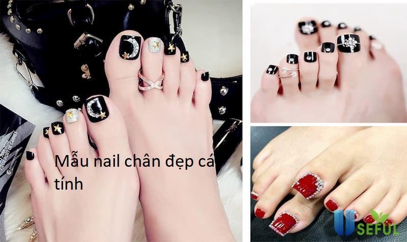Mẫu nail chân đẹp cá tính