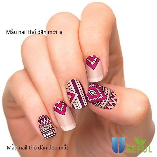 Mẫu nail thổ dân đẹp ấn tượng