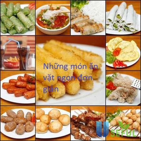 Những món ăn vặt ngon đơn giản