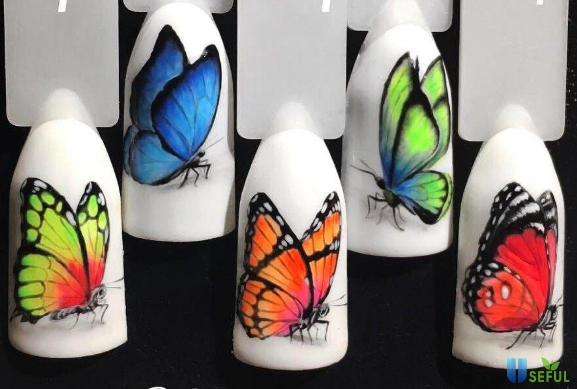 Các bước vẽ nail bươm bướm cực chuẩn và xinh xắn2