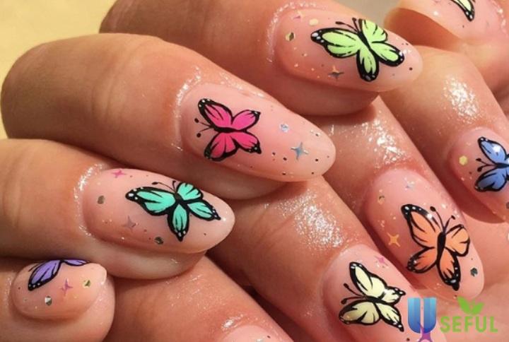 Mẫu nail bướm SỐT XÌNH XỊCH thử ngay kẻo lỡ cùng hội chị em