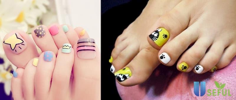 Mẫu nail chân đẹp dễ thương
