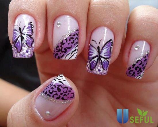 20 mẫu nail bươm bướm đẹp mê mẩn - Móng Tay Xinh