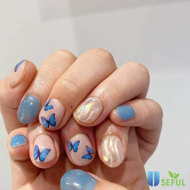 Các bước vẽ nail bươm bướm cực chuẩn và xinh xắn