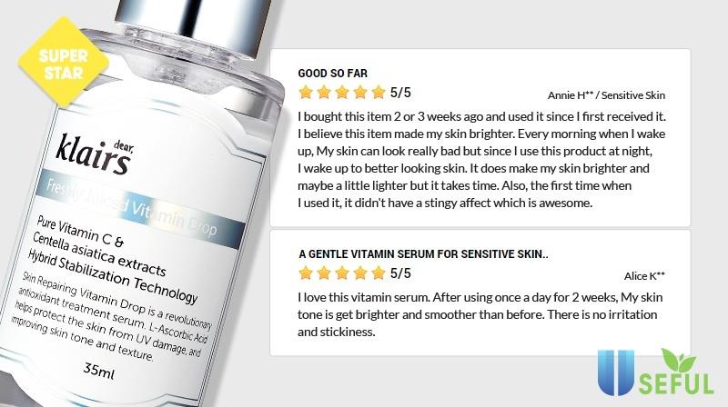 Review Serum Trị Thâm Mụn Klairs Freshly Juiced Vitamin Drop