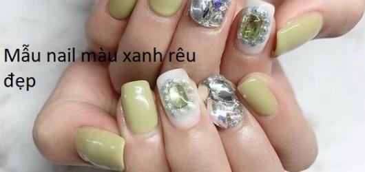 Tuyển tập mẫu nail xanh rêu cực kỳ long lanh và không kén màu da