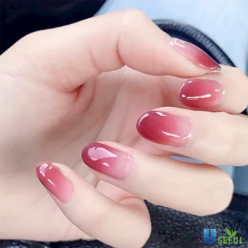 Mẫu nail ombre trắng hồng xinh