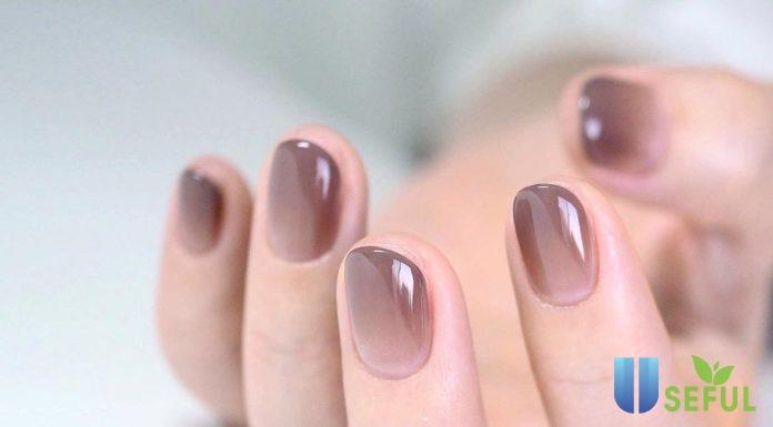 Mẫu nail sơn thạch màu tím nổi