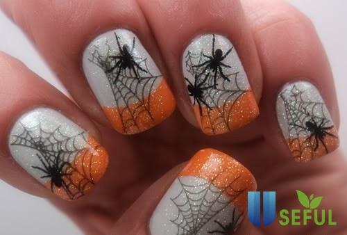 Mẫu nail hình con nhện