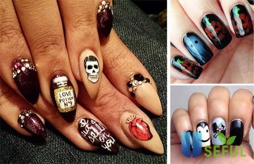 Mẫu nail halloween đáng yêu