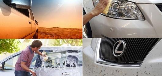Kinh nghiệm chăm sóc để ô tô màu trắng để không bị ố vàng