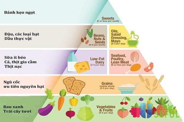 Tháp dinh dưỡng cho bé từ 6-11 tuổi