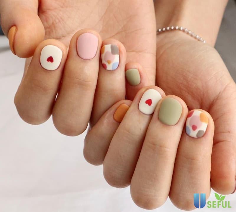 Mẫu nail nhám dễ thương