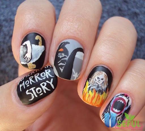 Mẫu nail halloween dễ thương