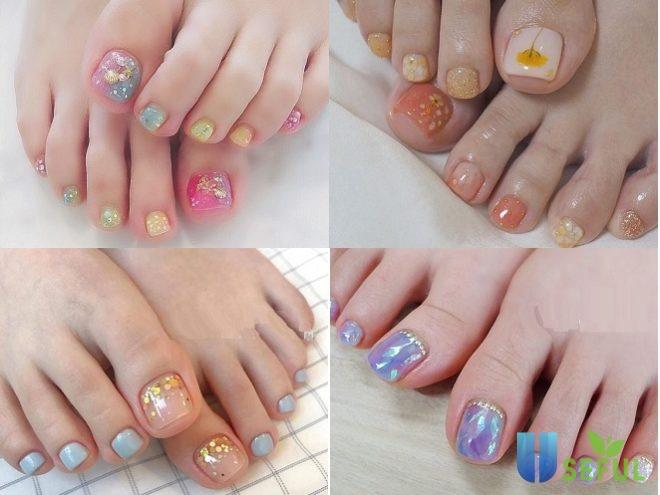 Các mẫu nail chân nổi bật