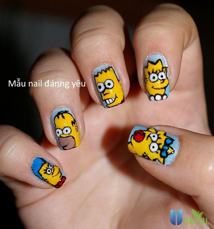 Mẫu nail đáng yêu