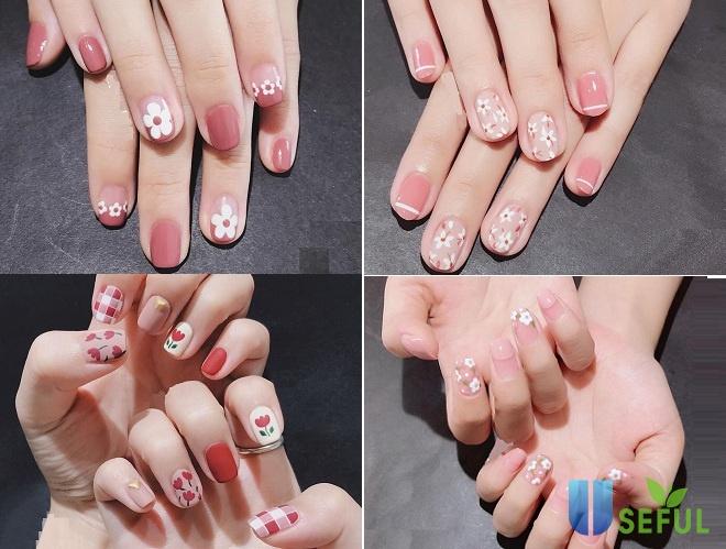 Mẫu nail đáng yêu đơn giản