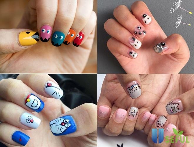 Mẫu nail đáng yêu hoạt hình tinh nghịch