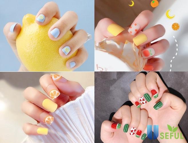 Các mẫu nail đáng yêu hình trái cây