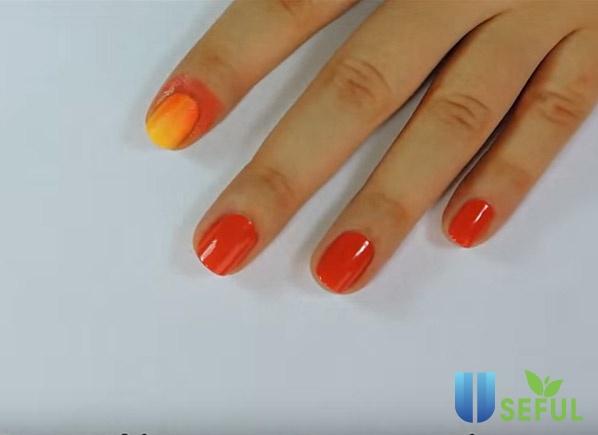Hướng dẫn vẽ nail chiếc lá mùa thu đơn giản