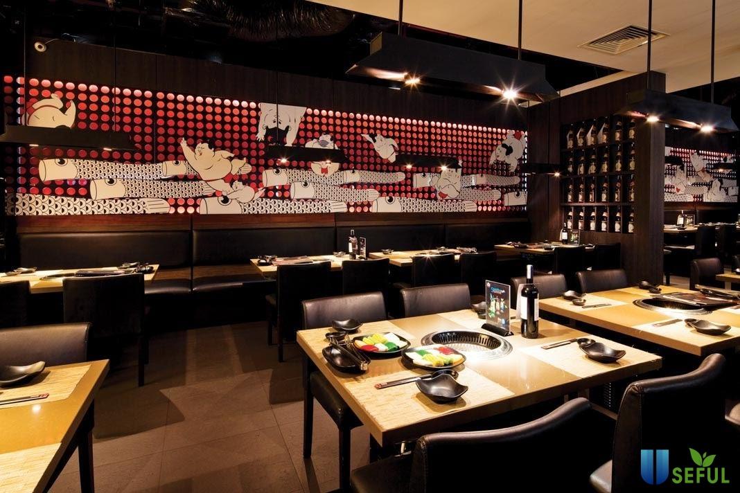 Không gian nhà hàng Sumo BBQ mang đậm phong cách Nhật Bản