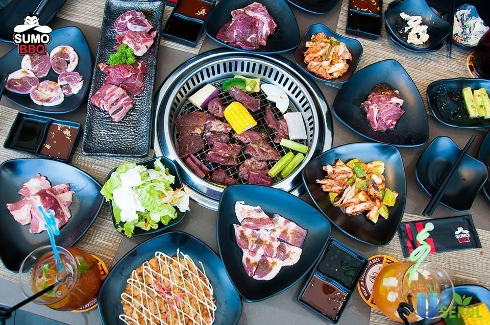 Tiệc buffet Sumo BBQ và menu gọi món đa dạng