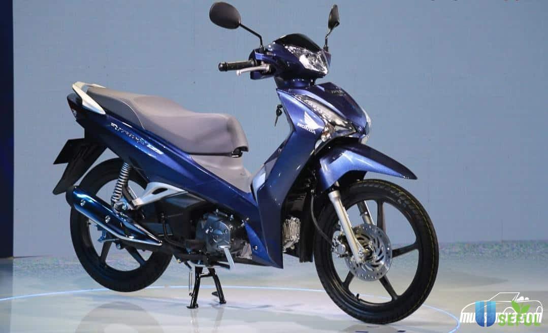 Honda Future màu xanh bạc 2021