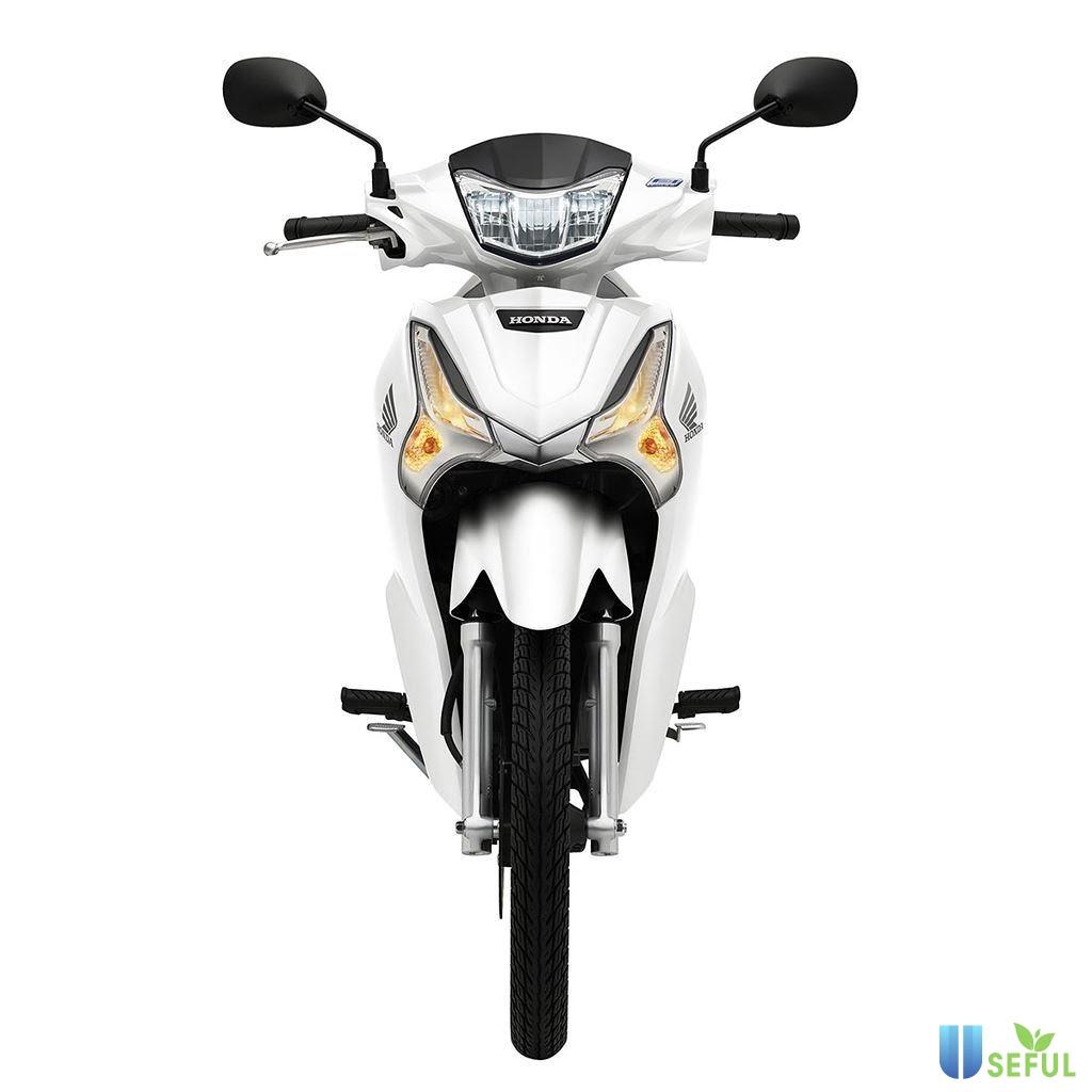 Honda Future màu trắng bạc 2021.