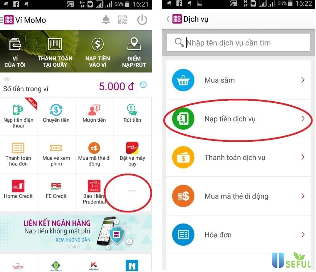 Hướng dẫn mua thẻ Gate online qua ứng dụng MOMO